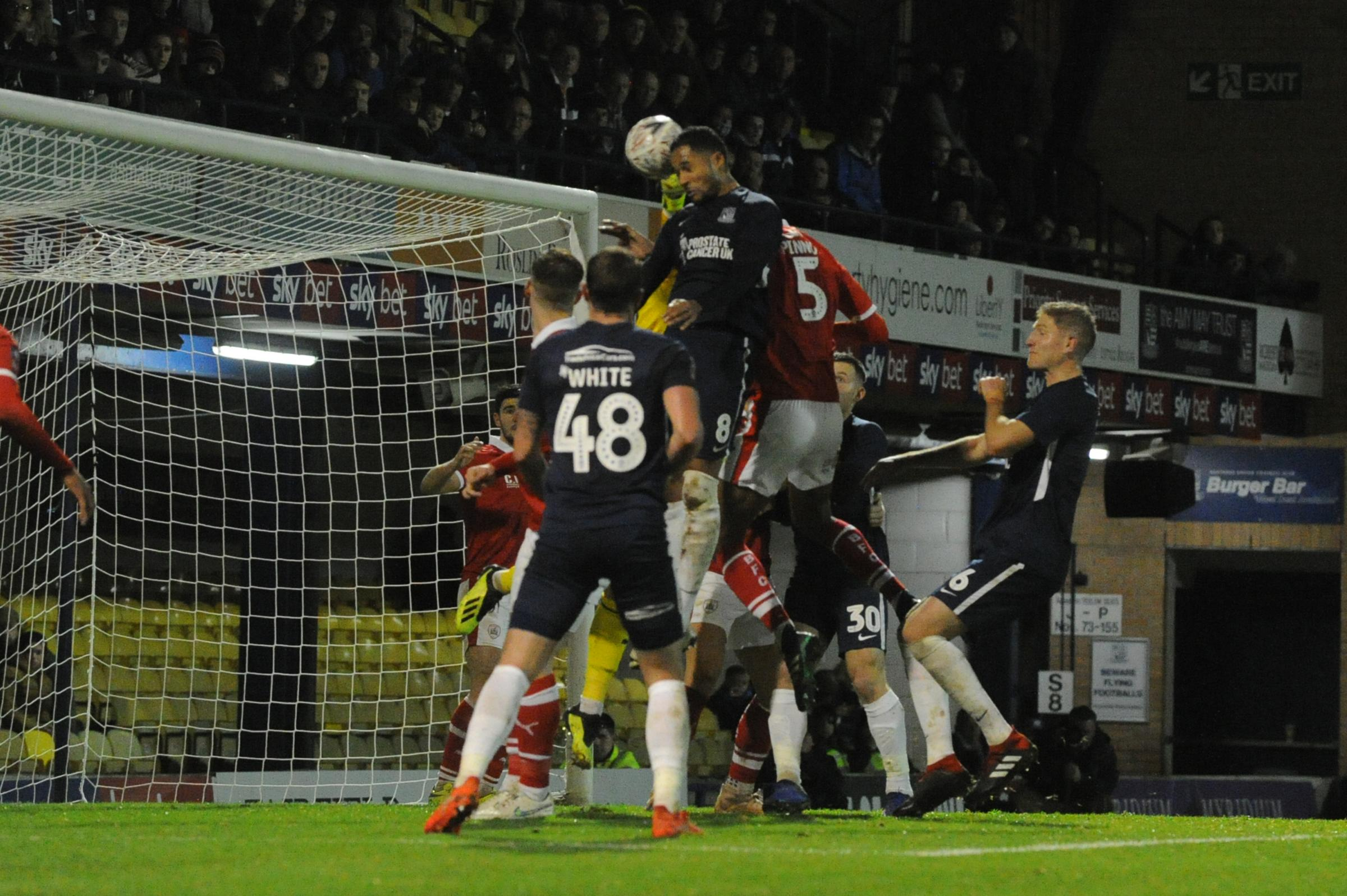 Heading home - Timothee Dieng nets Blues' second goal against Barnsley