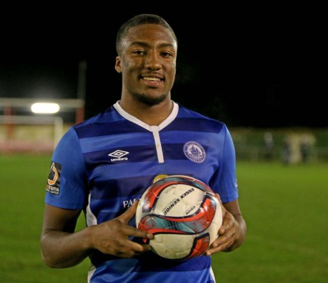 f63d17112ad0 Hat-trick hero - Devonte Aransibia enjoyed a debut to remember as  Billericay Town brushed