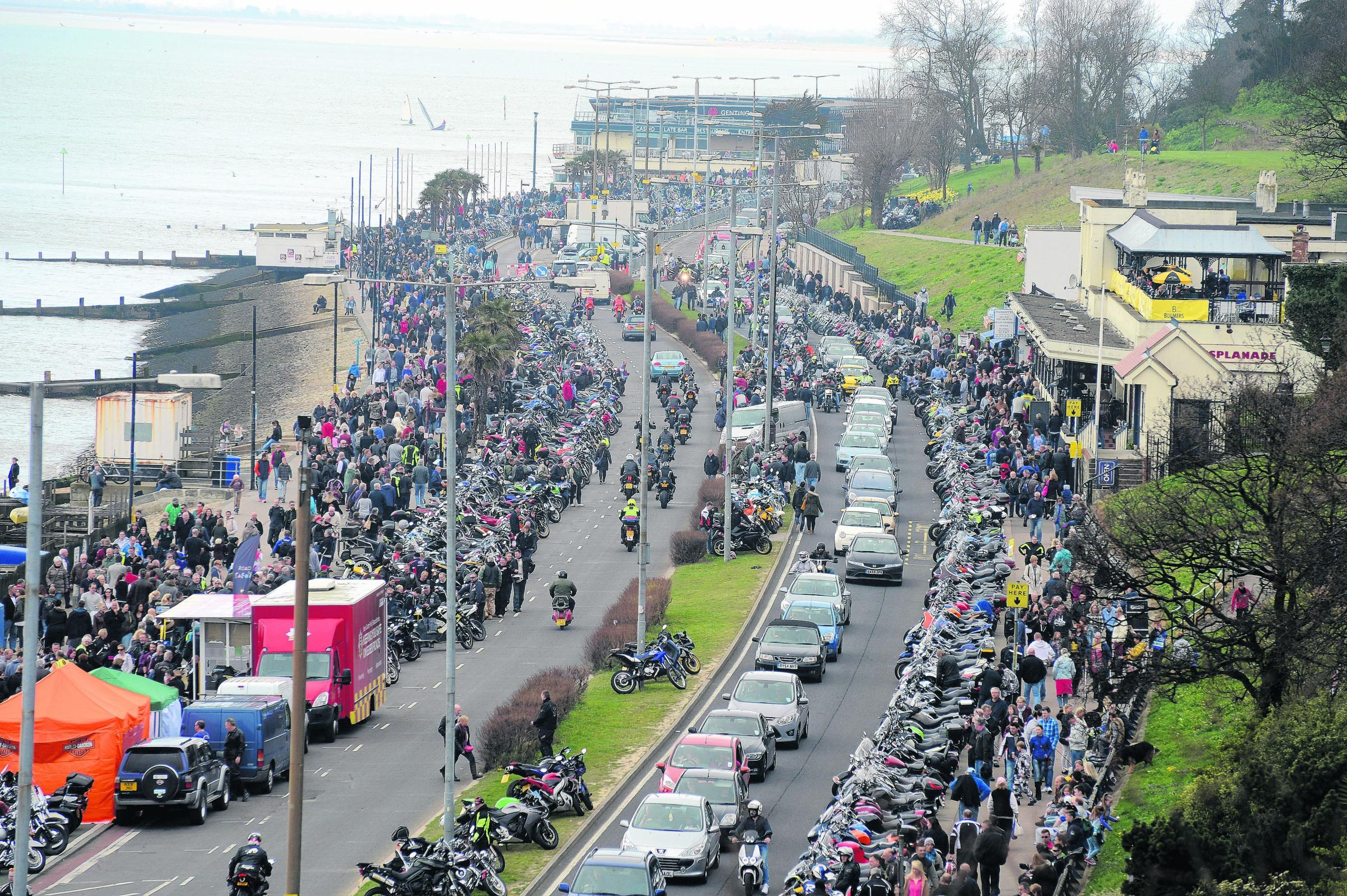 Thousands of bikers packed the seafront at a previous Shakedown.
