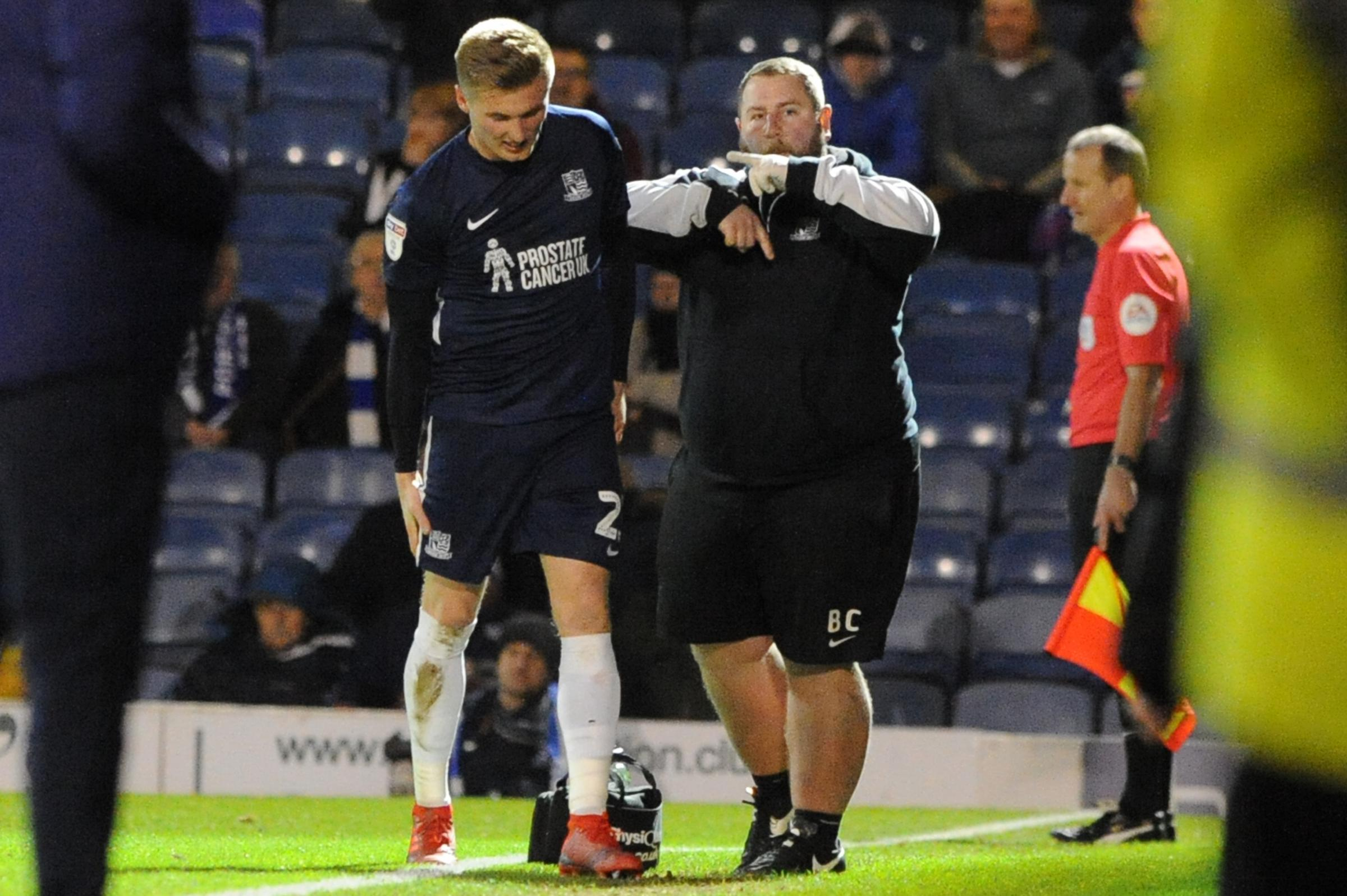 Injured - Southend United defender Taylor Moore