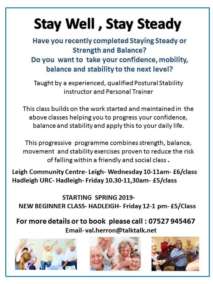 Stay Well, Stay Steady- New Beginners Class