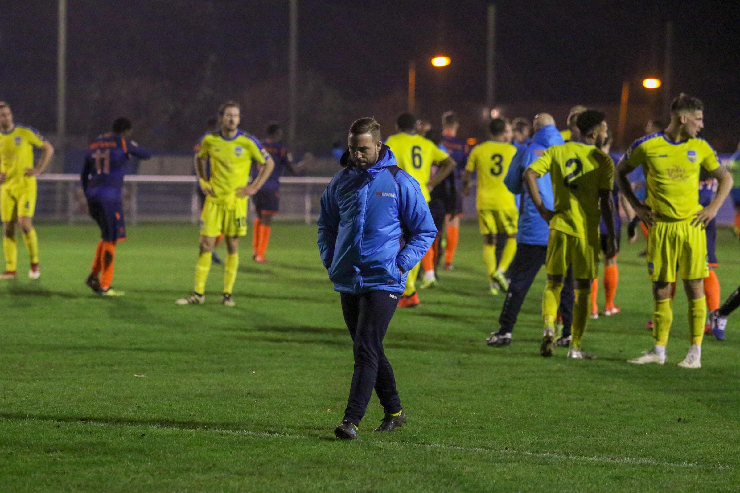 Frustrated - Sammy Moore and Concord Rangers Picture: PAUL RAFFETY