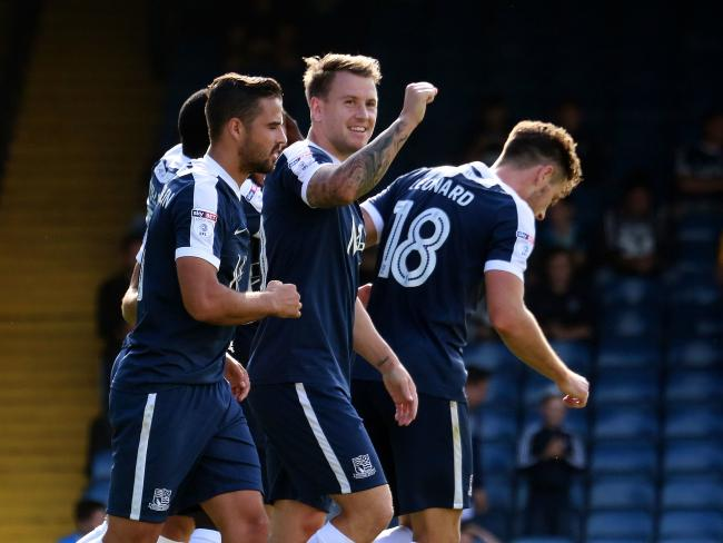 Flashback - Simon Cox celebrates scoring against Bristol Rovers back in 2016