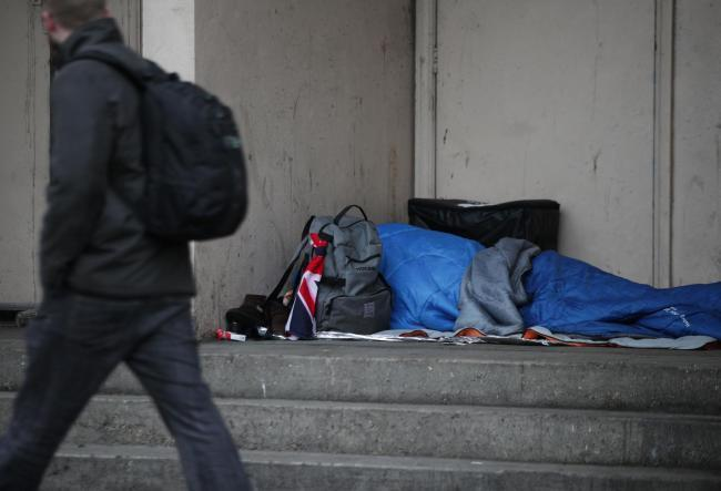 Targets - Drug users and rough sleepers were targeted by the online group. Stock image