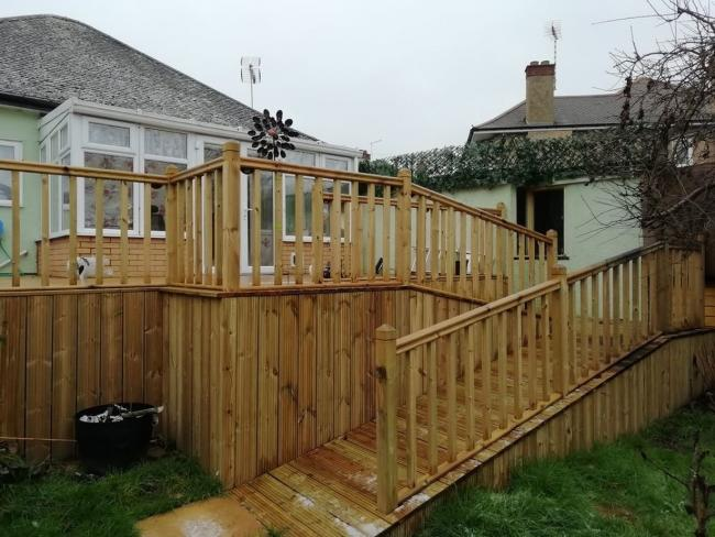 Overhaul - Dave's work in Mr and Mrs Selby's back garden 