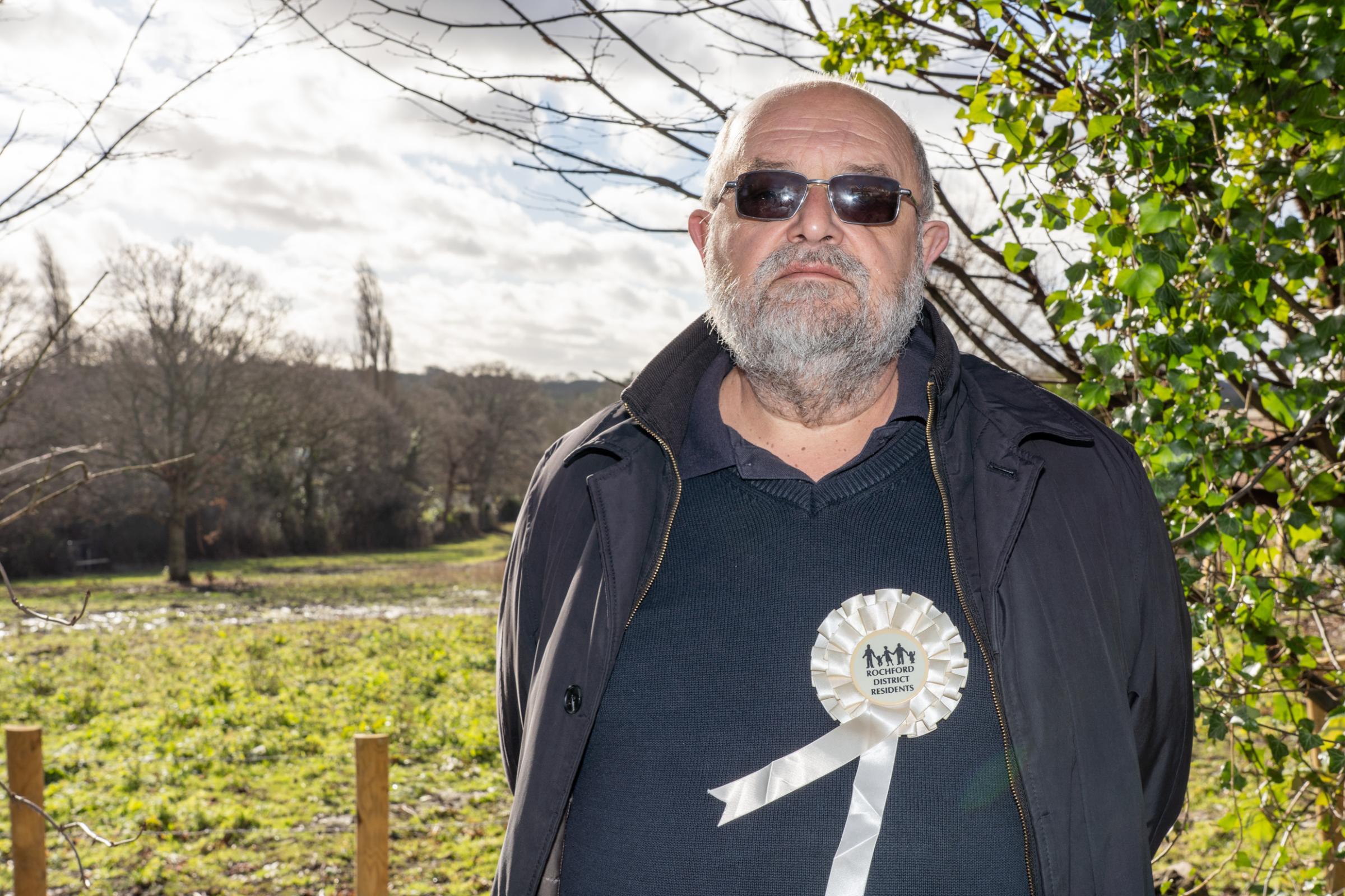 Anger - Richard Lambourne, member of the Rayleigh Action Group, has criticised the council for dithering and causing illegal camps to pop up