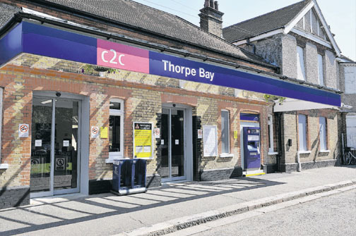 Scene - Thorpe Bay station where one of several robberies took place
