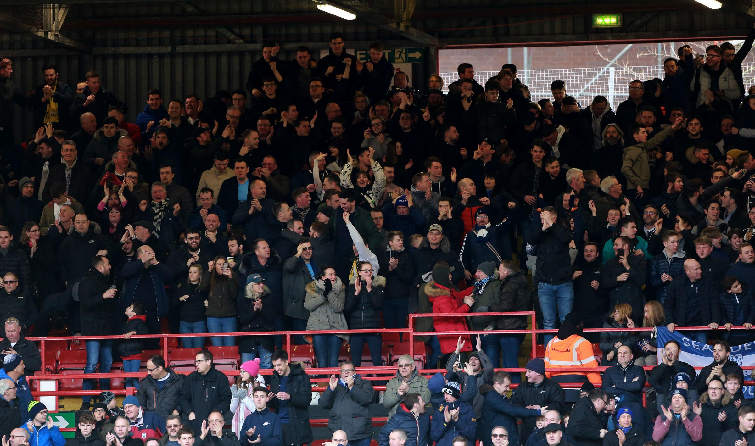 Backing their team - Southend United's fans at the Valley