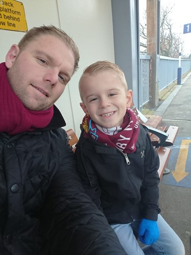 Homeless fears - Daniel Poppy with his son Billy, who could be made homeless along with his wife and two other children
