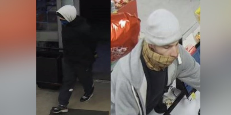 Leigh McColls armed robbery CCTV images
