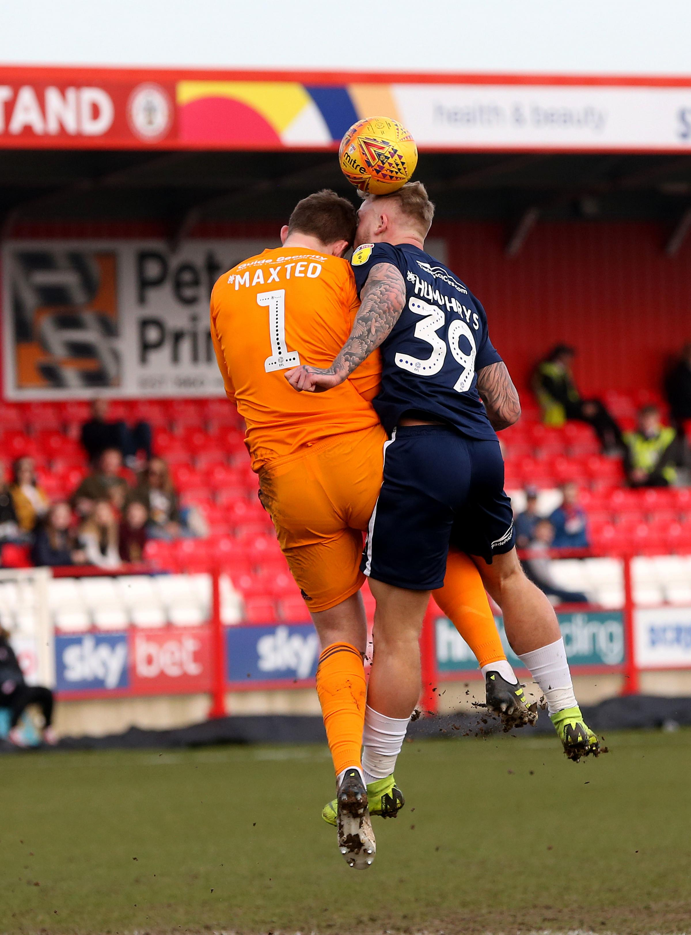 Out injured - Southend United striker Stephen Humphrys