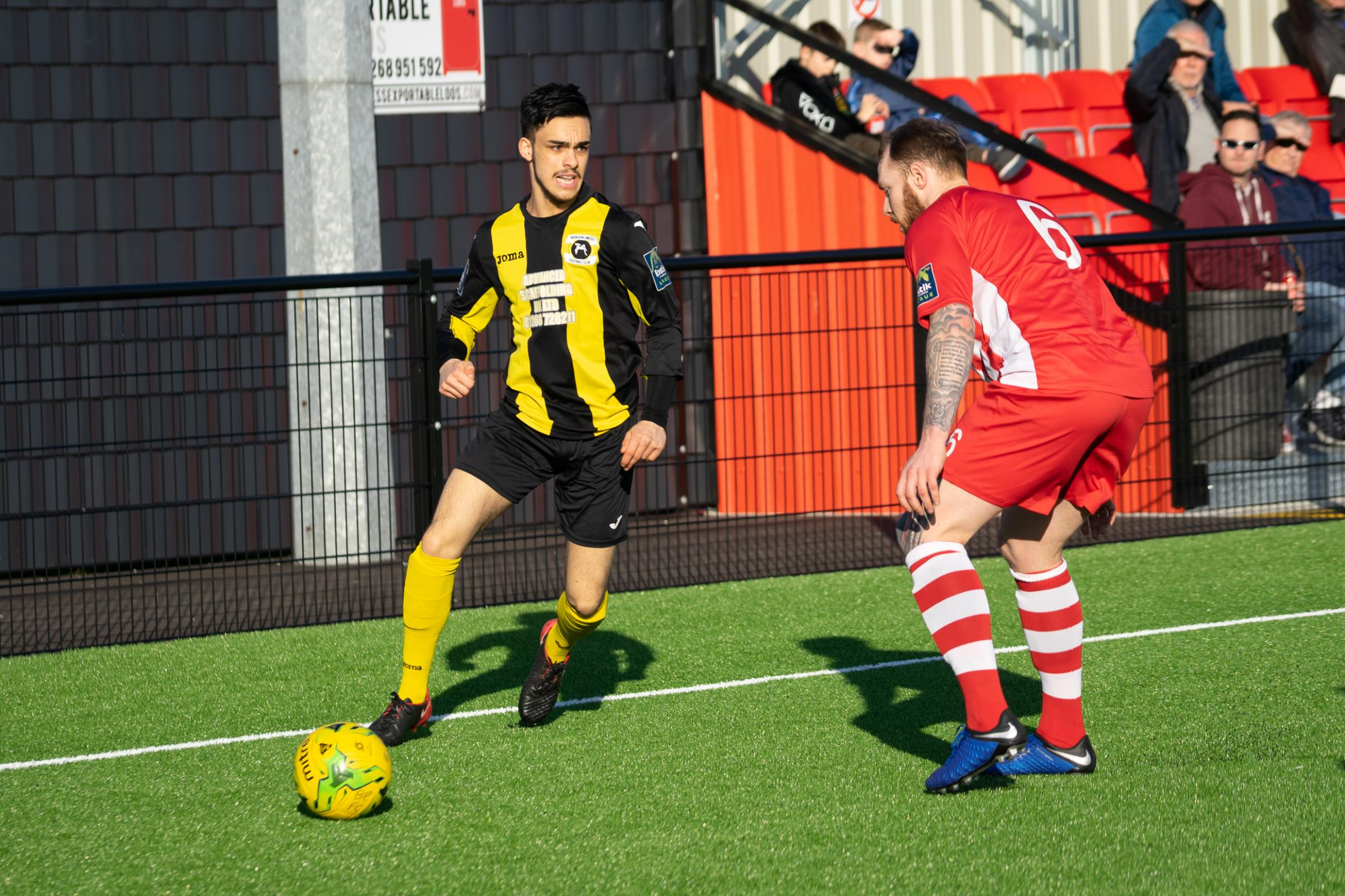 Hoping to grab a home win - Basildon United and Daniel Cheema Picture: LUAN MARSHALL