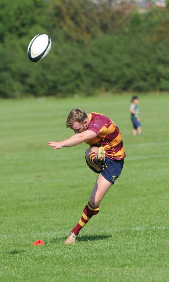 Fired up - Westcliff fly-half Jack Jones