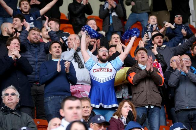 Backing their team - Southend United's supporters at Blackpool