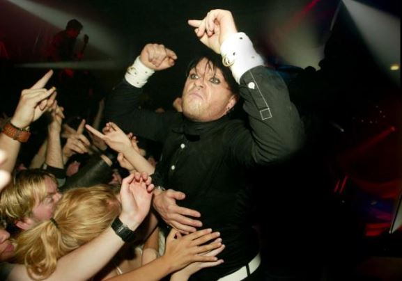 Adored: Keith Flint during a gig at Towerlands, Braintree, in 2005