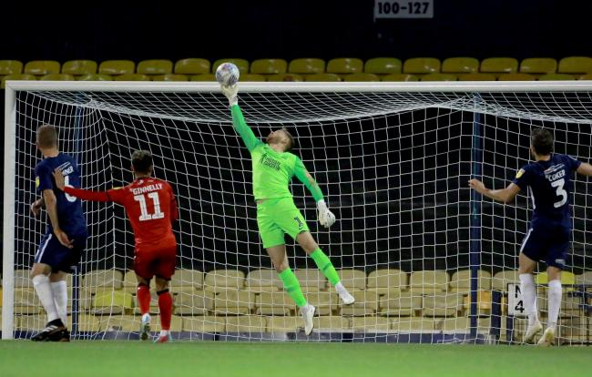 Battling for a place - Southend United goalkeeper Mark Oxley