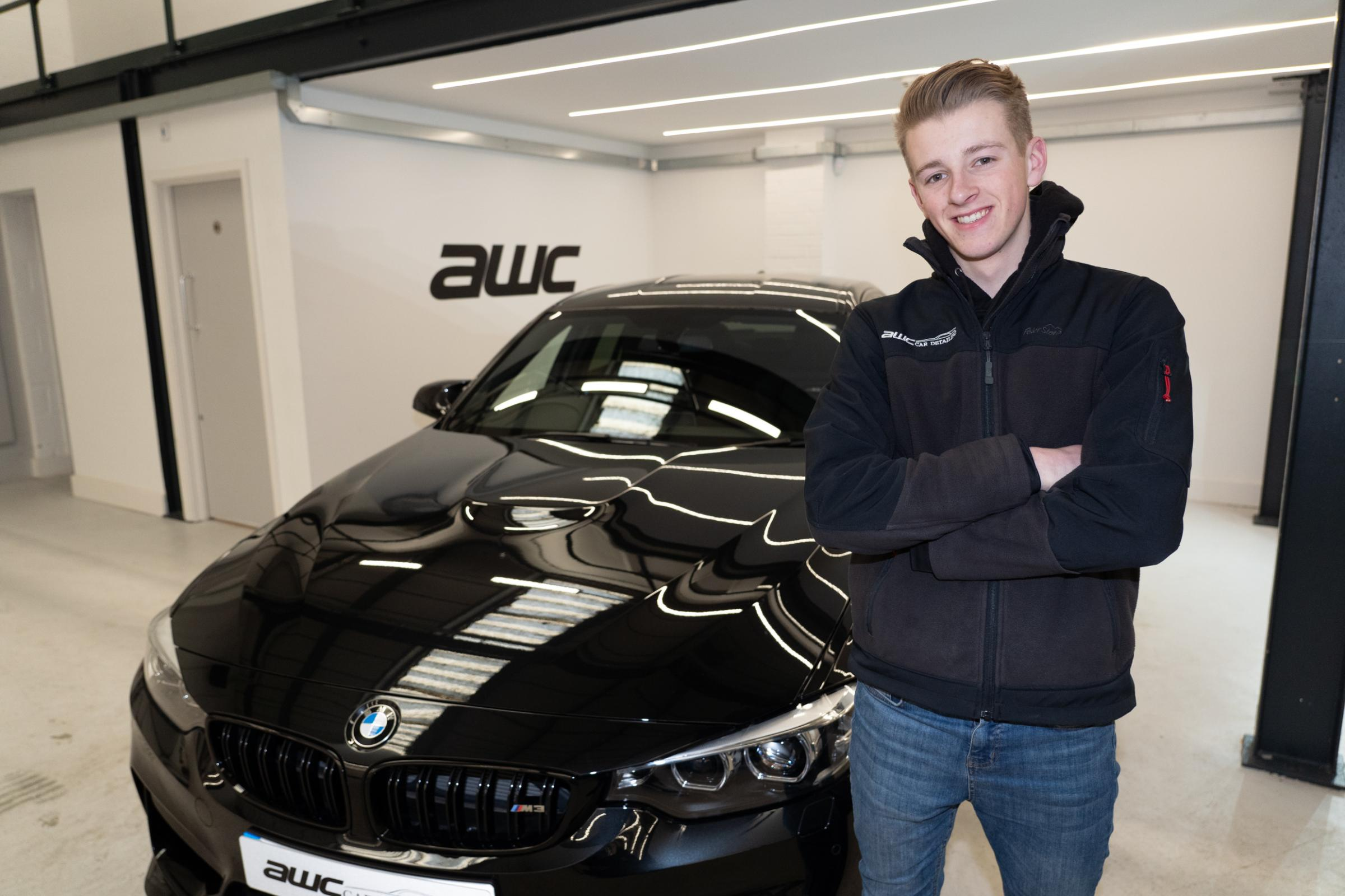 Entrepreneur - Alex Chapman, 19, owner of thriving business AWC Car Detailing