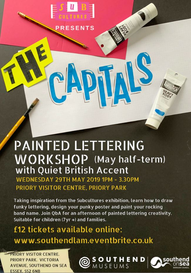 Subcultures Painted Lettering Workshop with Quiet British Accent
