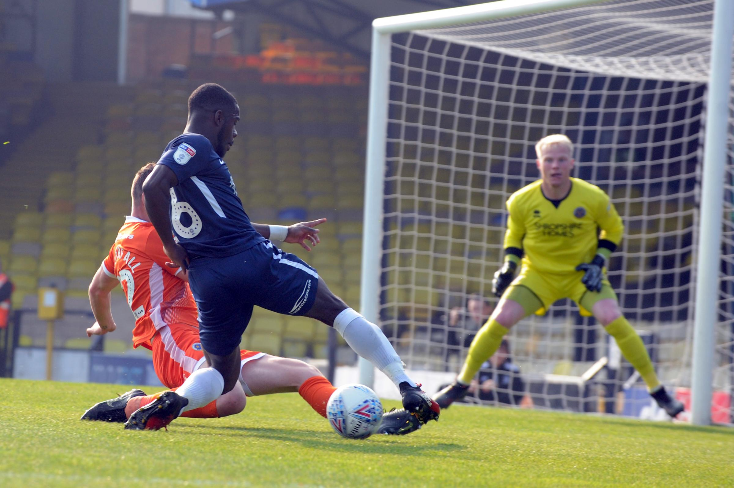Bursting forward - Southend United midfielder Dru Yearwood