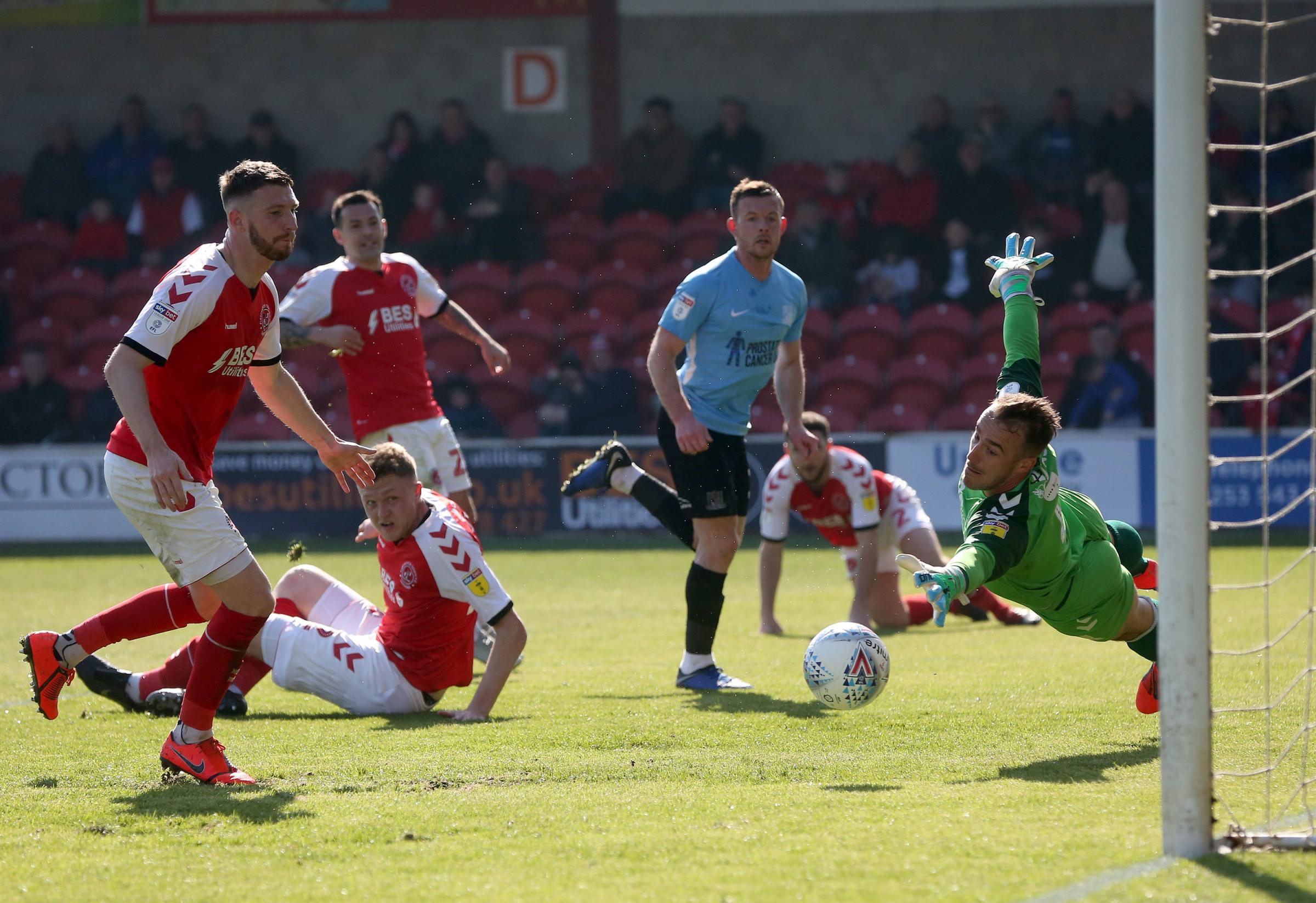 On target - Harry Bunn scored for Blues at Fleetwood Town on Saturday