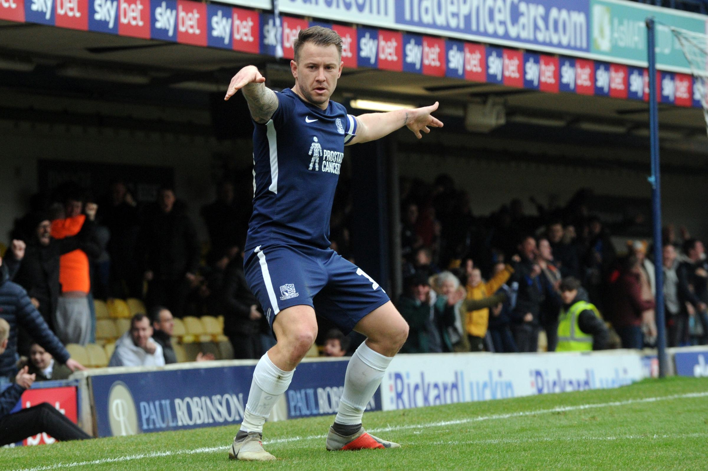 Wanting a win - Southend United striker Simon Cox