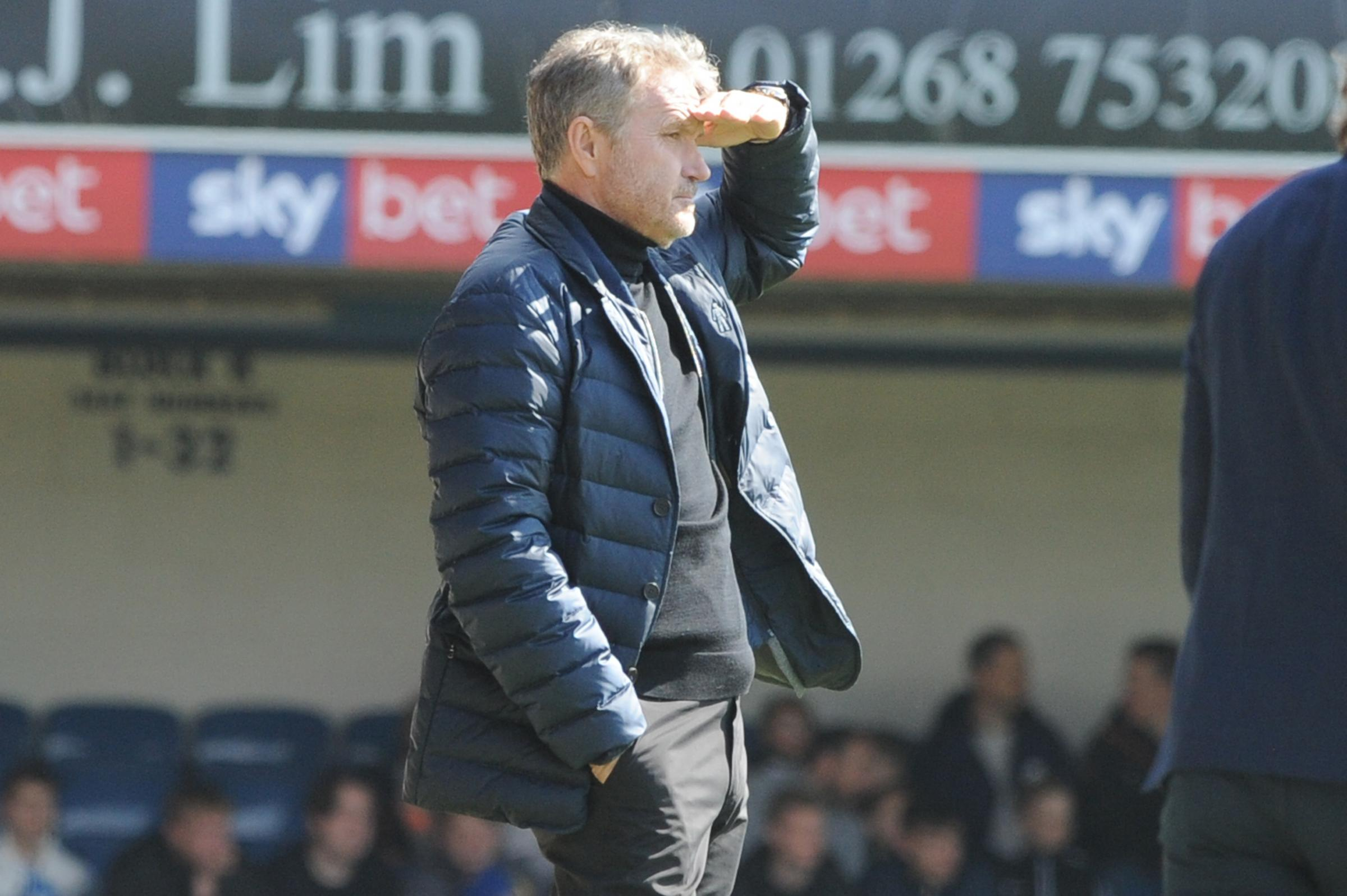 Tough afternoon - for Southend United manager Kevin Bond