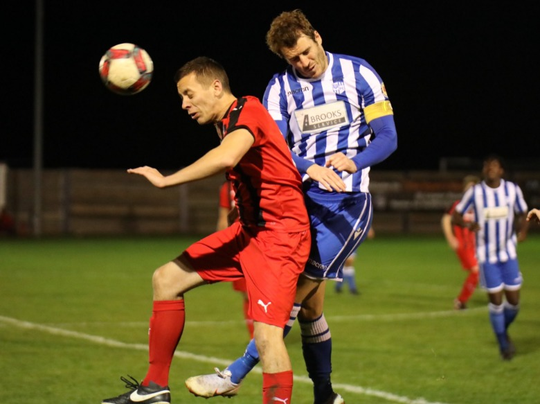 Completed the scoring - Hullbridge Sports' Luke Hornsley Picture: NEIL HUNWICKS