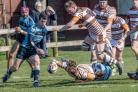 Two tries - Tom Day touched down twice for Southend against Eton Manor