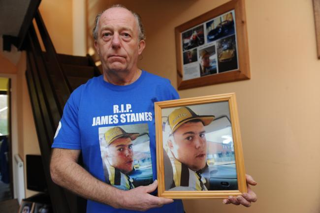 Dad - Colin Staines holds football matches every year to remember his son James