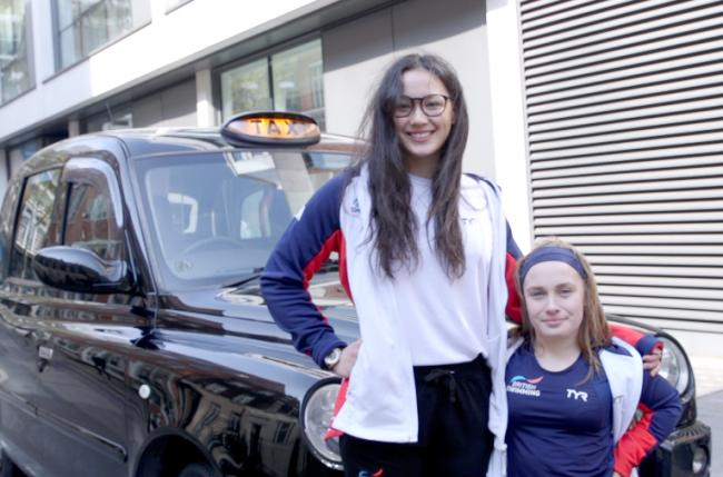 Alice Tai (left) and Ellie Robinson are hoping for success in home waters