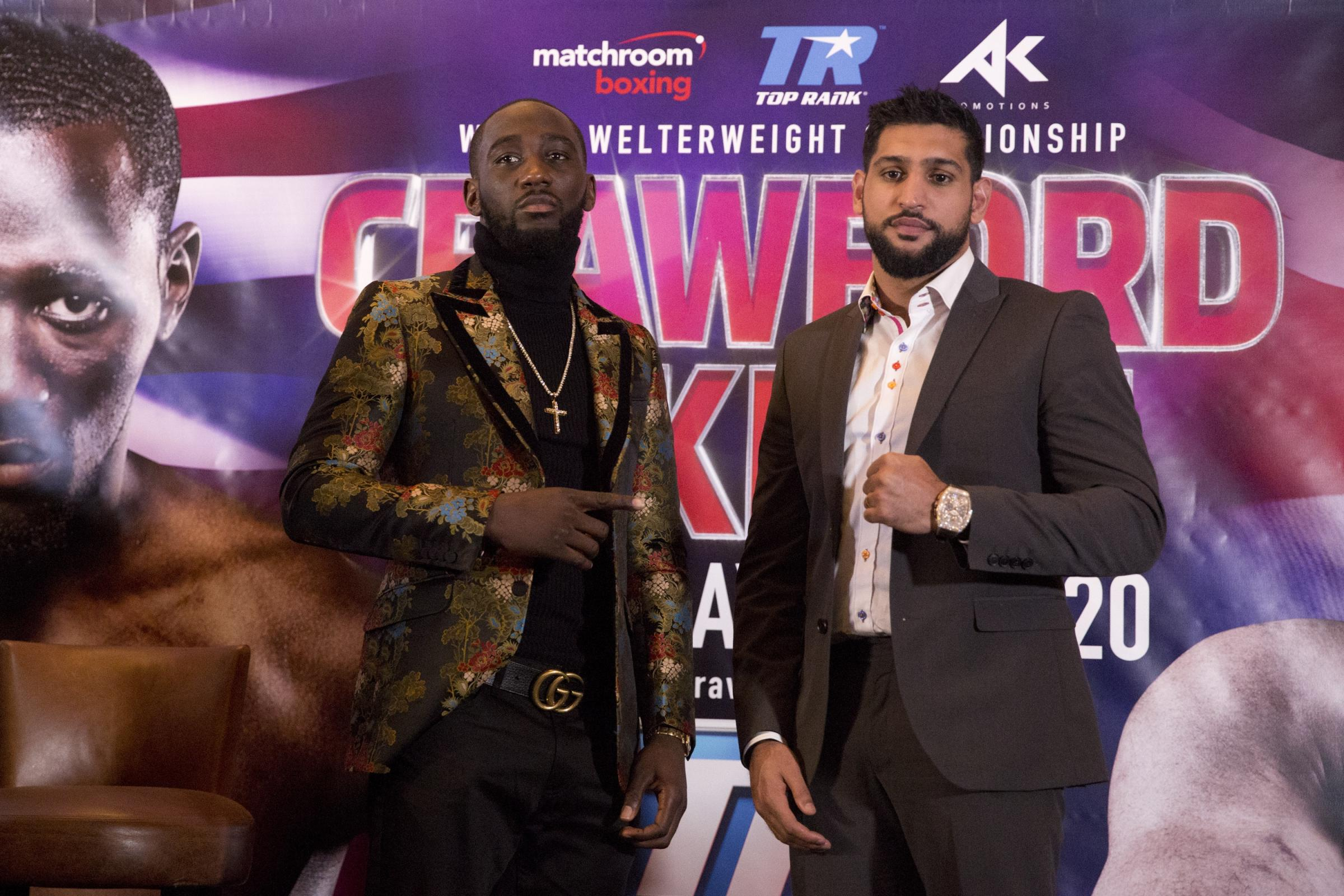 Amir Khan and Terence Crawford File Photo