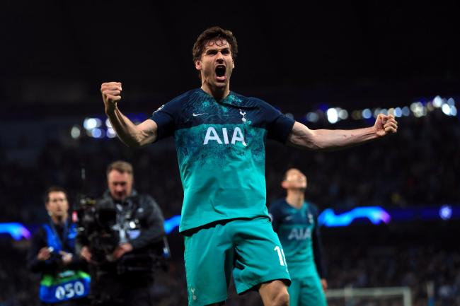 Fernando Llorente claimed the decisive goal as Tottenham ended Manchester City's quadruple dream