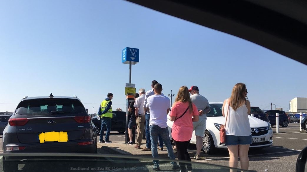 queues - pic by Southend Council
