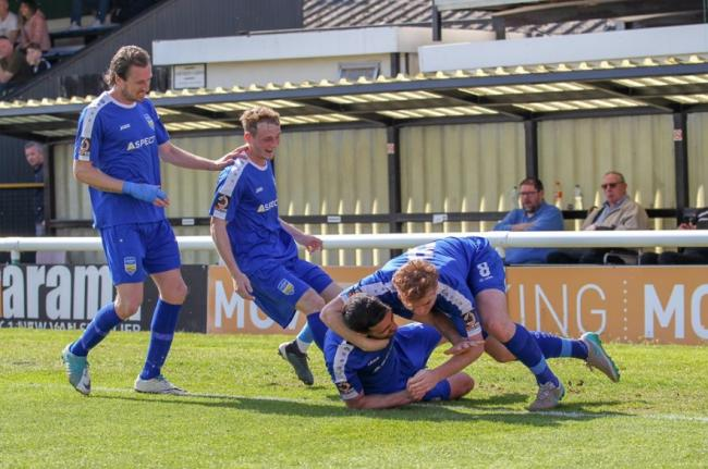Hoping for more to celebrate - Concord Rangers Picture: PAUL RAFFETY