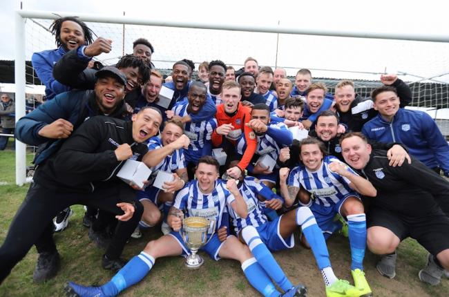 On the up - Hullbridge Sports will get their maiden Isthmian North campaign underway tomorrow Picture: NEIL HUNWICKS