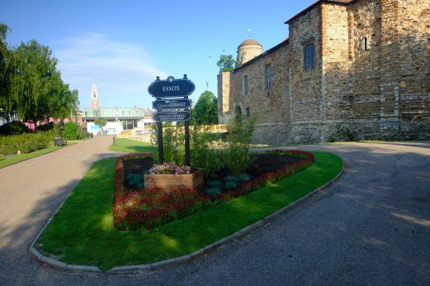 Echo: The sign has been unveiled outside Colchester Castle