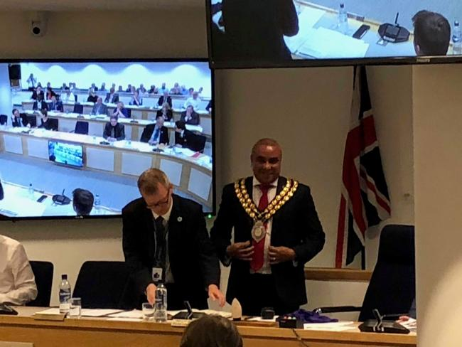 Mayoral - David Burton-Sampson with the mayoral chain