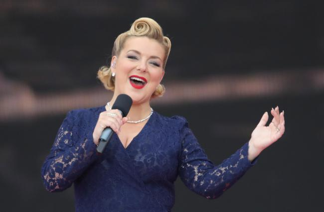 Sheridan Smith performing during the commemorations for the 75th Anniversary of the D-Day landings at Southsea Common in Portsmouth.