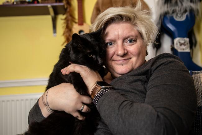 Love - Owner Abigail with her beloved cat Jethro
