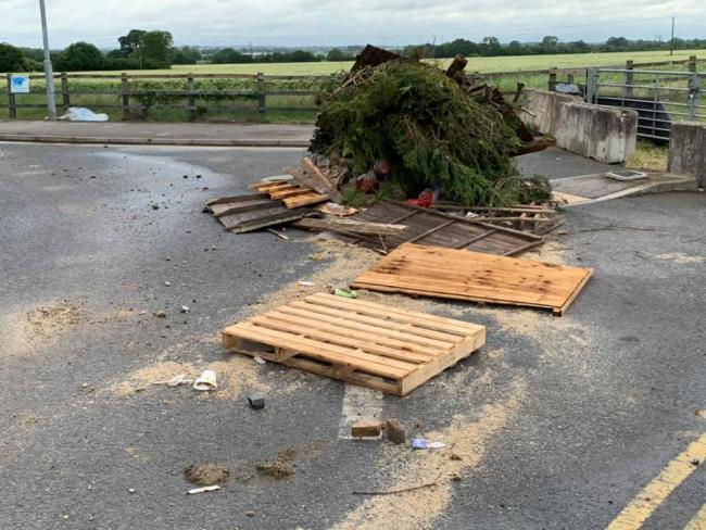 Dumped - this huge mess in Fossetts Way, Southend, was spotted and reported by councillor Alex Bright