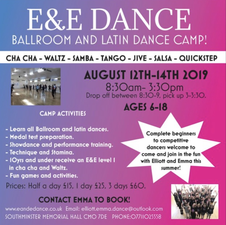 Ballroom and Latin dance camp!