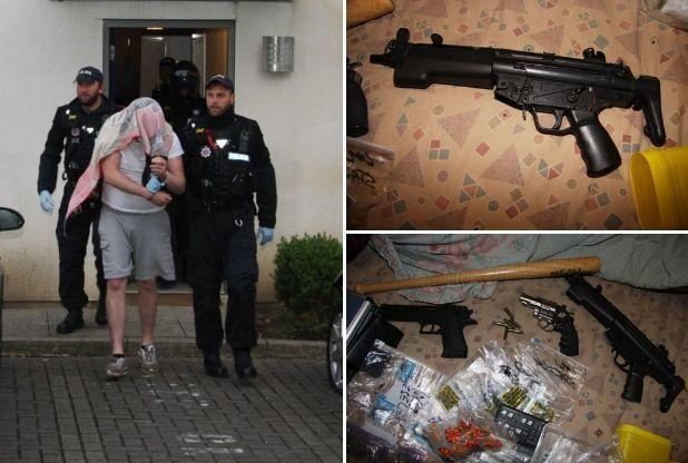Brentwood drug raids see sixteen arrests and weapons seized