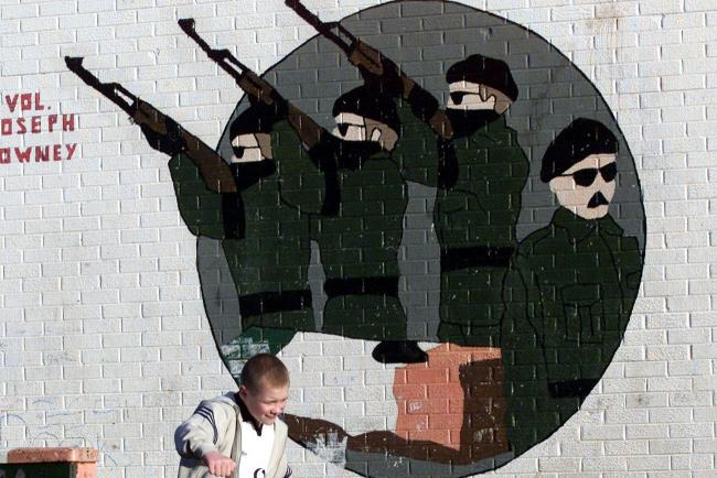 A mural, as a founding member of the Provisional IRA has died aged in his late nineties
