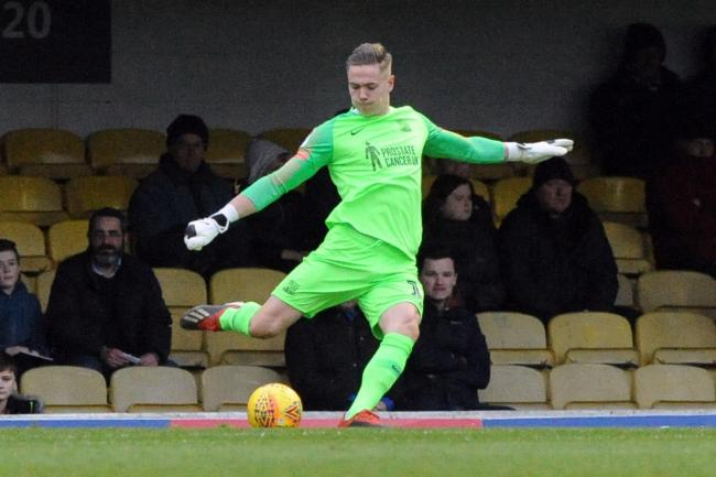 Honoured - Southend United goalkeeper Nathan Bishop made his England under-20s debut