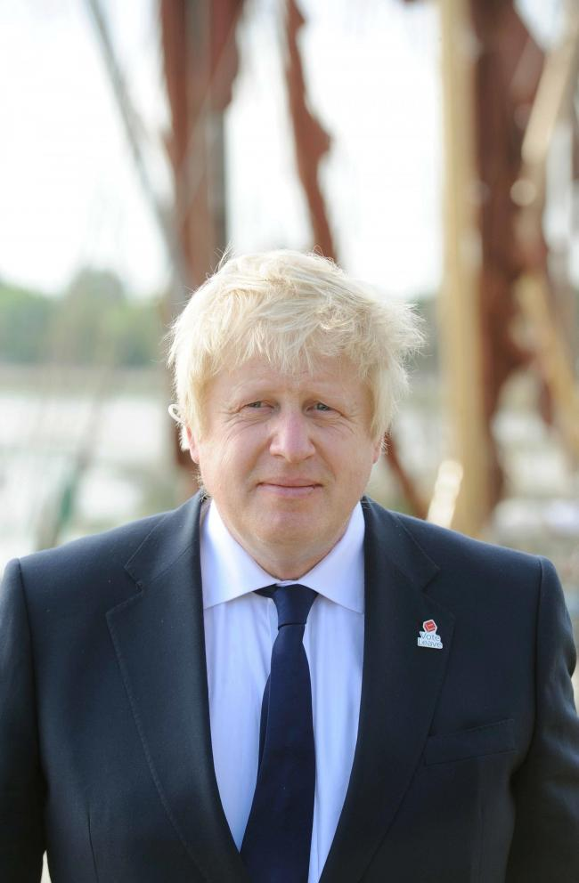 Boris Johnson at The Hythe, Maldon..